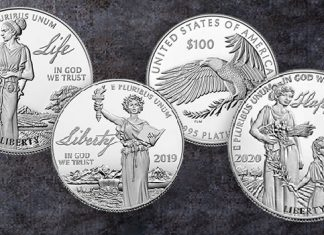 United States 2020 American Platinum Eagle - Preamble to the Declaration of Independence: Happiness 1oz Proof coin