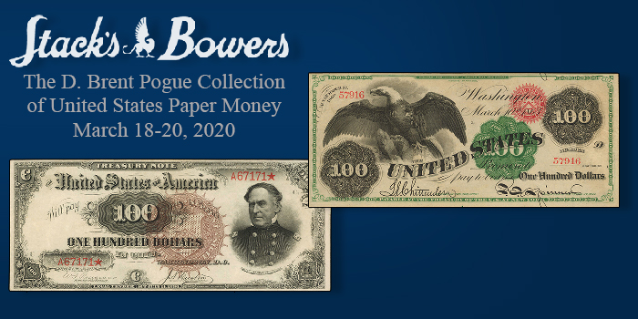 Stack's Bowers Sale of Pogue Collection US Paper Money Realizes More Than $9.2 Million