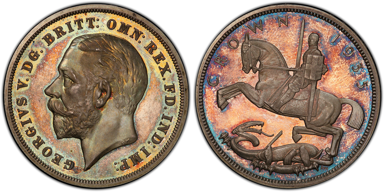 GREAT BRITAIN. George V. (King, 1910-1936). 1935 AR Crown. PCGS PR66 Cameo. Courtesy Atlas Numismatics