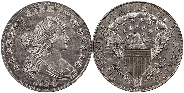 Unique 1804 Class II dollar. Image Credit: Smithsonian Institution