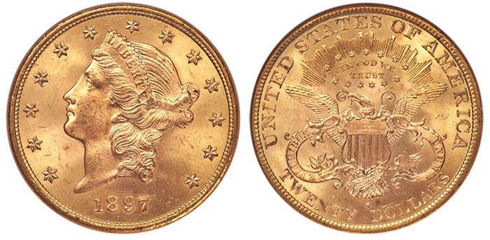 1897-S $20 NGC MS65 CAC