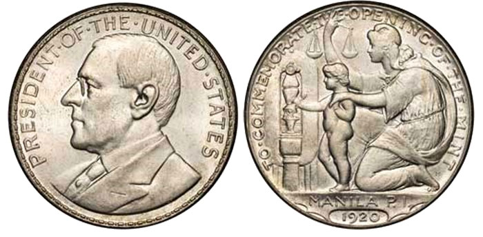 An example of the Wilson dollar in Silver (HK-449). Silver examples contain as much as 20 percent copper. This popular design is difficult to acquire in uncirculated condition.