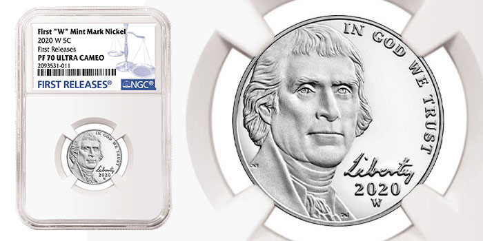 NGC Celebrates First 2020-W Nickel