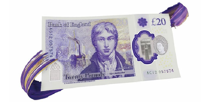 Bank of England Enters New £20 Note Into Circulation