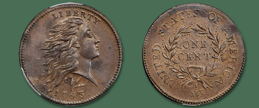 Condition Census S-11c 1793 Wreath Cent Featured in Stack's Bowers Galleries March 2020 Baltimore Auction