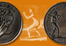Daniel Mendoza on Conder Token circa 1790. Images courtesy Stack's Bowers Auction