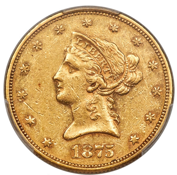 1875 $10 U.S. Gold Coin