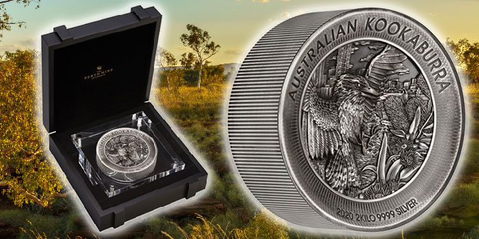 Perth Mint Coin Profiles - Australia 2020 Kookaburra 2 Kilo Silver Antiqued High Relief Coin