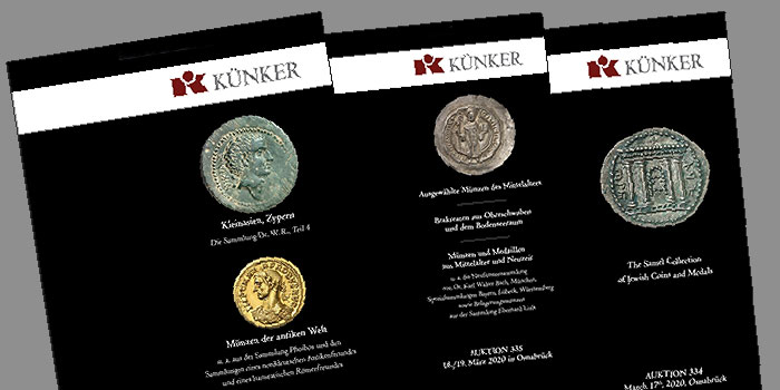 Künker Ancient and World Coin Spring Auctions Now Open