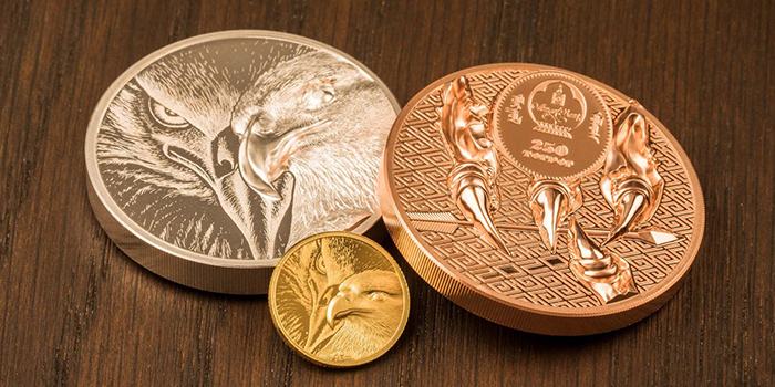 Majestic Eagle Series in High-Relief Gold, Silver and Copper From Coin Invest Trust