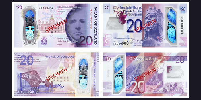 Scottish Banks to Roll Out New £20 Polymer Banknotes in March
