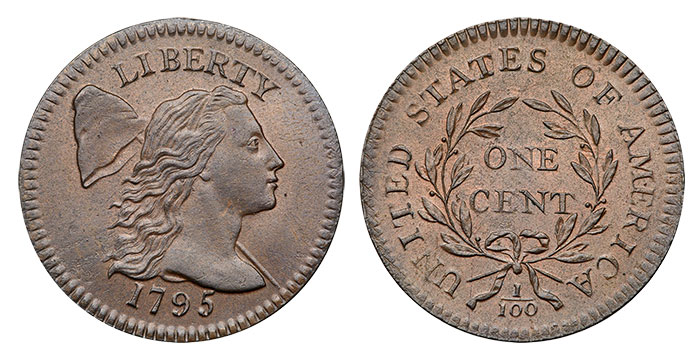 1795 'Plain Edge' Large Cent in MS-62 BN