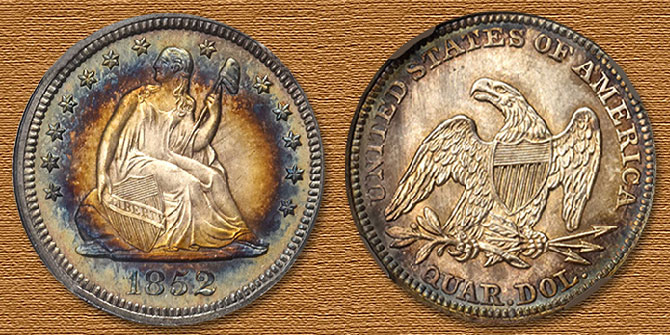 Finest Known 1852 Liberty Seated Quarter in Stack's Bowers March 2020 Auction