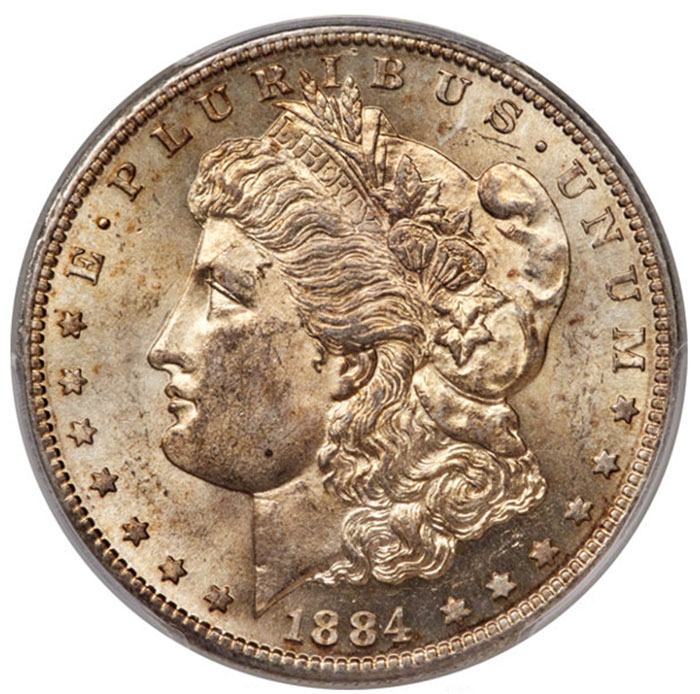 1884-S Morgan Dollar in MS-62