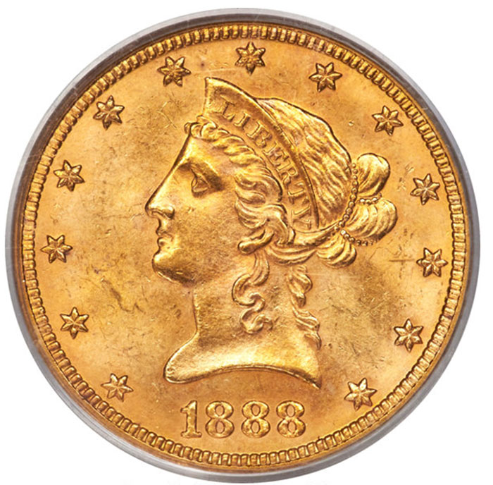 1888 $10 Gold Eagle in MS-63