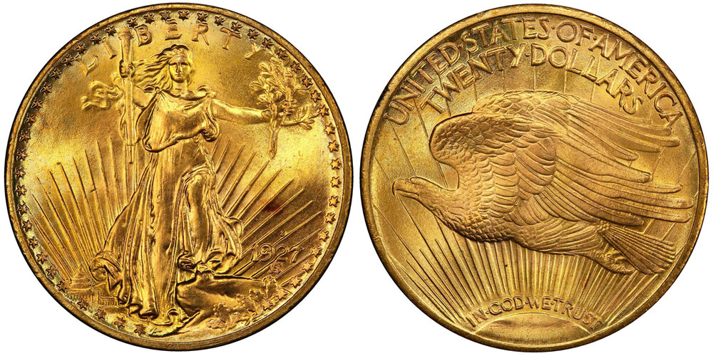 LOT 7355 PCGS/CAC MS67 1927-S DOUBLE EAGLE, courtesy Stack's Bowers, Pogue VII Sale