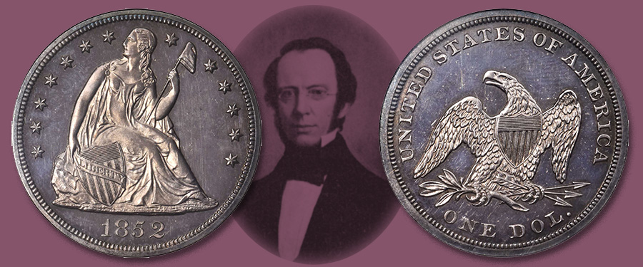 Rare Proof Restrike 1852 Liberty Seated Dollar Offered in our Stack's Bowers March 2020 Baltimore Auction