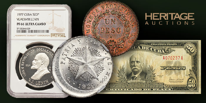 The Don Diego Luna Collection Month-Long Auction of Cuban Coins and Currency From Heritage