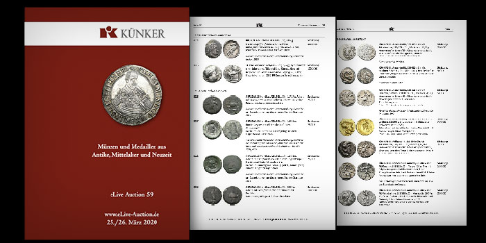 Künker eLive Auction 59 of Ancient and World Coins Online Now