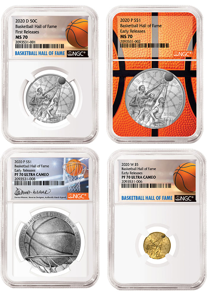 NGC Basketball Hall of Fame Commemorative Coin Program Label Program