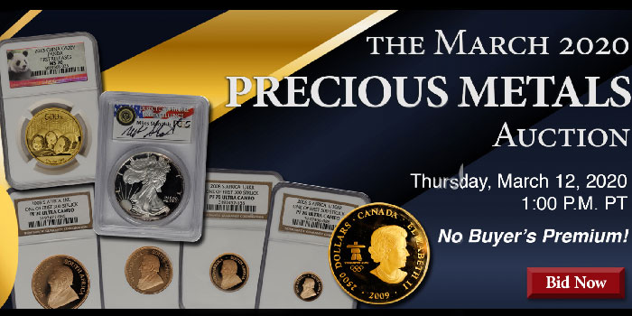 Bid by Percentage in the Stack's Bowers March 2020 Precious Metals Auction