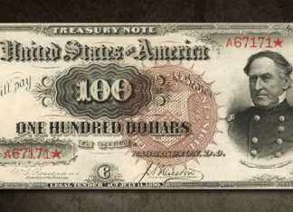 Copy Reproduction 1890 $100 Watermelon US Treasury Currency Note