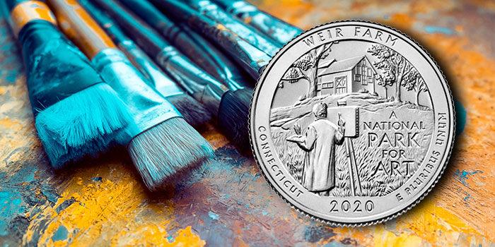 Weir Farm National Historic Site 2020 America the Beautiful Quarters Launch, Coin Forum Cancelled