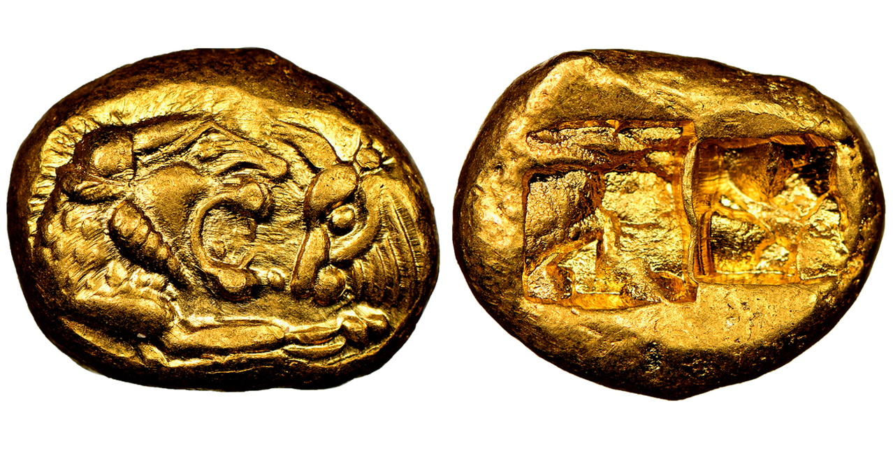 GREEK. LYDIA. Croesus or Kroisos. (King, 561-546 BCE). Circa 561 BCE or Later. AV Stater. Courtesy Atlas Numismatics