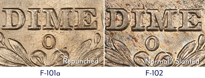 Reverse Die Diagnostics of the 1838-O dime. Coin photography courtesy of PCGS. Descriptions courtesy of Gerry Fortin.