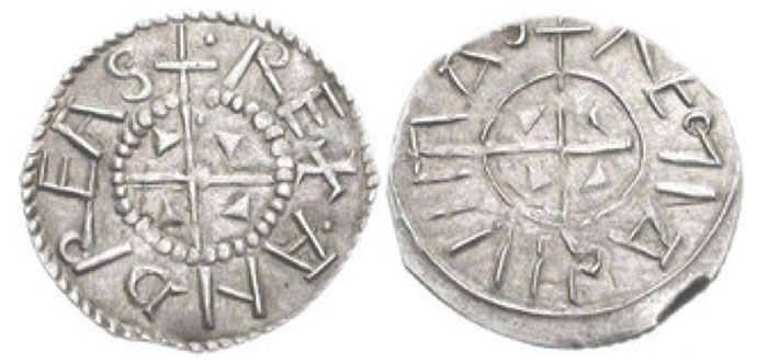 Andreas I. 1046-1060. AR Penny (17mm, 0.59 g). + • REX • ANDREAS, small cross with wedges in quarters / +REΓIA CIVIITIAS, small cross with wedges in quarters. Huszár 8 var. (rev. legend); Réthy 11 var.