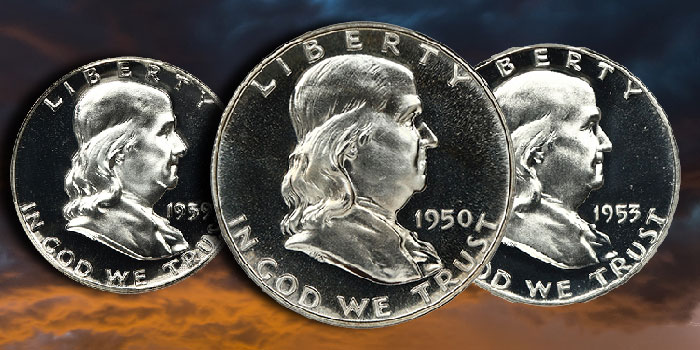 Certified Gem Franklin Half Dollar Collection Offered by David Lawrence Rare Coins
