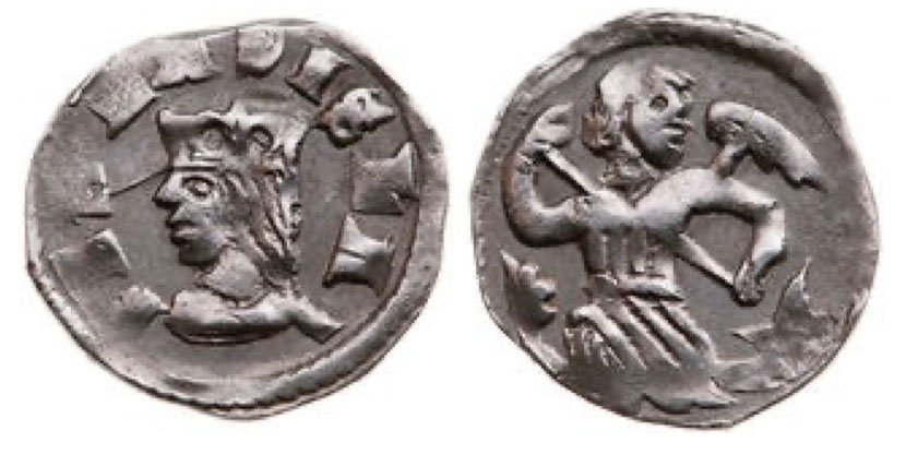 Ladislaus IV. (1272-1290) denár 0,44 g REX LADISLAI, crowned head left, Rv: Angel holding lance C.I.: 310 H.: 362.