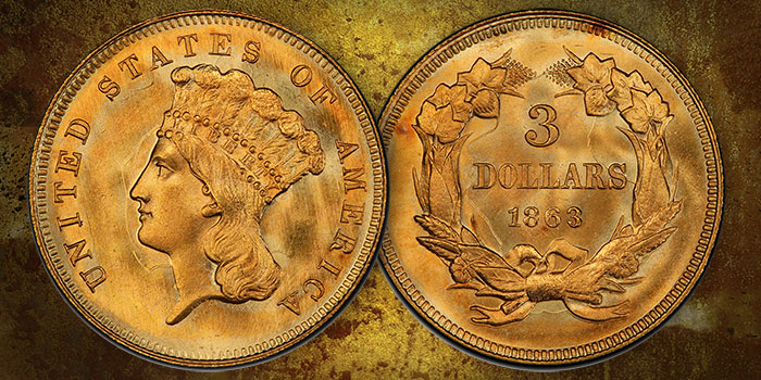 Rare US Gold Coin Profiles: MS-68 CAC Three Dollar Gold