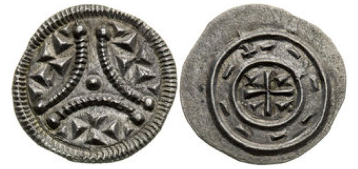 Stephen II of Hungary, Denar (1116 – 1131) 0,35 g, 11,4 mm , Huszár 91