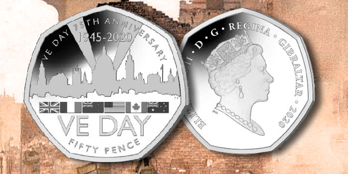 75th Anniversary of VE Day Commemorated on New 50 Pence Coin