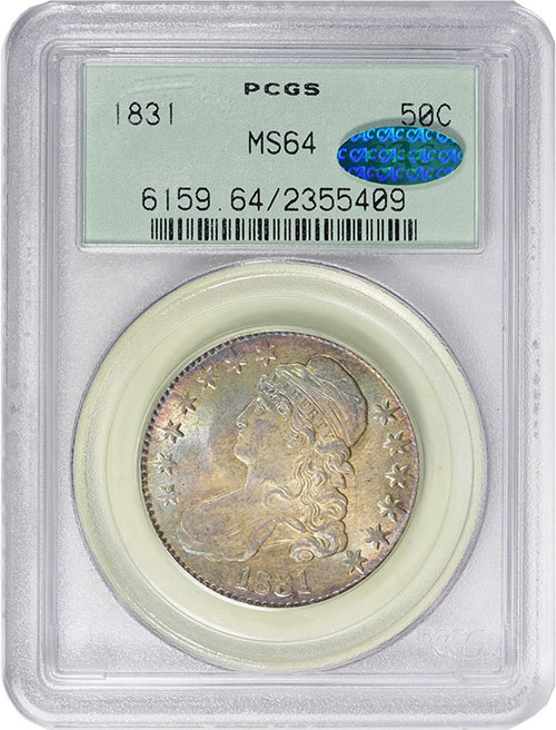 1831 Half Dollar in MS-64 CAC. Image Credit: GreatCollections.