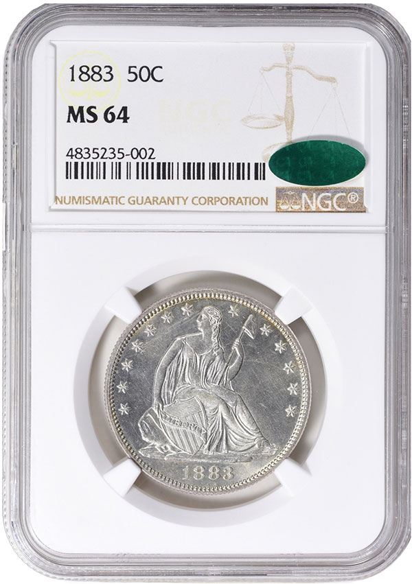 1883 Half Dollar in MS-64 NGC CAC. Image Credit: GreatCollections