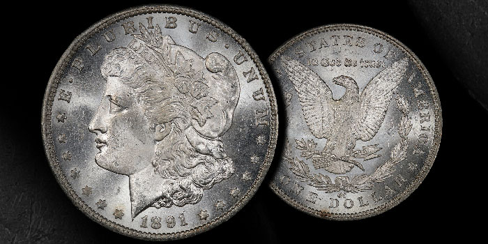 Gem 1891-CC Morgan Dollar: Stack's Bowers Direct Coin of the Week