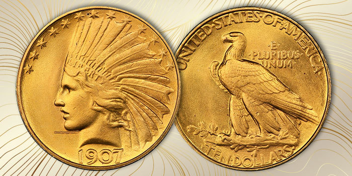 Rare Mint State 1907 Rolled Rim $10 Gold Offered in June Heritage Signature Auction