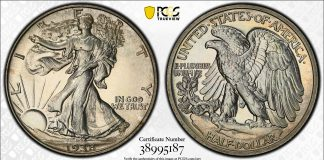 PCGS 1938 Half Dollar Proof Sells for Record $81,562 at GreatCollections
