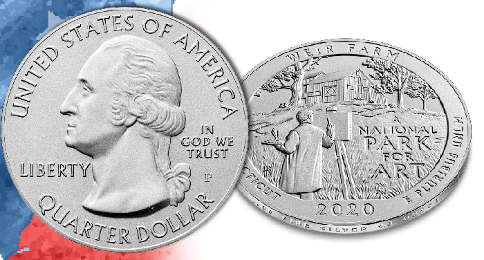 America the Beautiful 5oz Silver Coin Honoring Weir Farm on Sale May 18