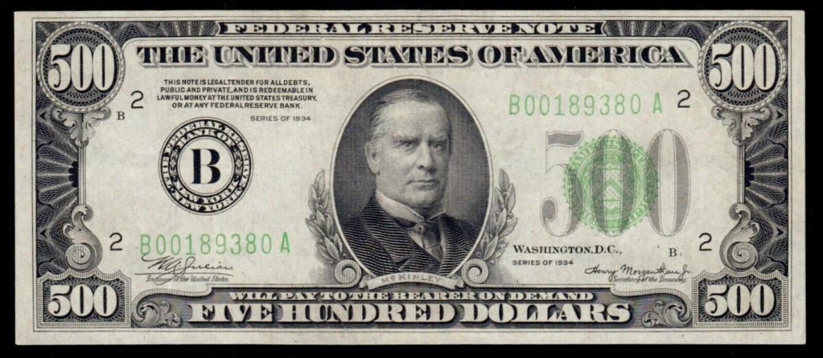 $500 Federal Reserve Note - Numismatic Crime Information Center (NCIC), Doug Davis