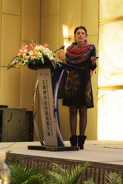 Chiara Principe Speaking in Shanghai.