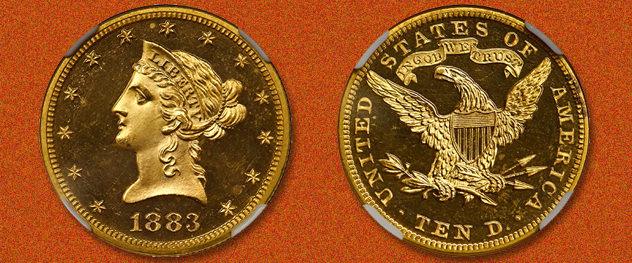 Rare Ultra Cameo Proof 1883 $10 Eagle in Stack's Bowers June 2020 Auction