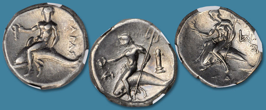 "The ""Dolphin Rider"" Coinage of Tarentum: Stack's Bowers Ancient Coins"