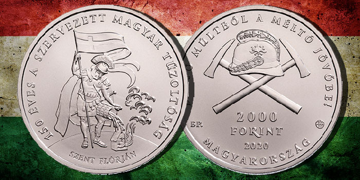 Hungarian Coins Commemorate 150 Years of Fire Departments