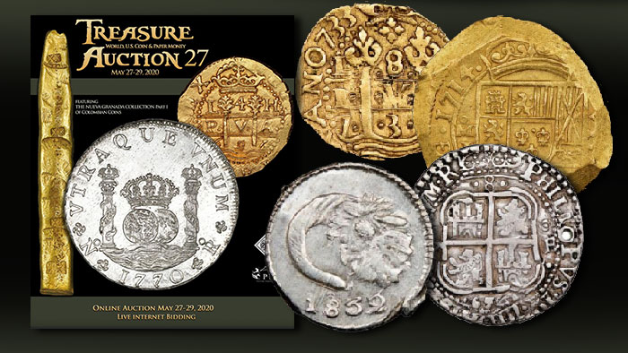 Spanish Colonial, Colombian Coins Star in Sedwick's May 27-29 Treasure Auction