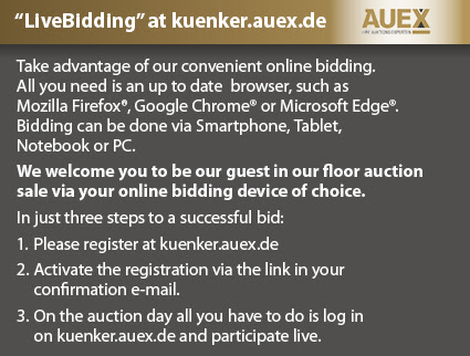 Kunker Auctions live on Auex