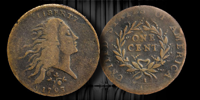 1793 Strawberry Cent -Large Cents -  ESM Collection - Stack's Bowers