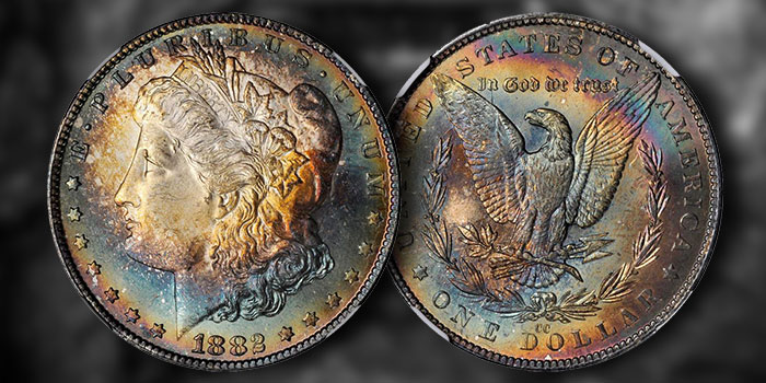 Carson City 1882 Gem Morgan Dollar Toner in SBG June Auction